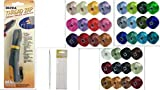 36 Colors of S-lon BEAD THREAD Size D & Ultra Thread Zap Tool & Four 5'' Big Eye Needles---THIS IS THREAD NOT CORD