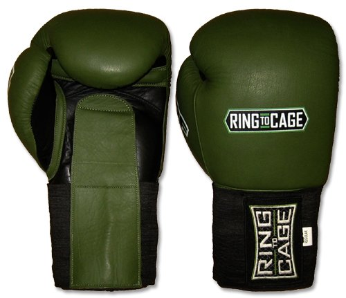 Ring to Cage Deluxe MiM-Foam Sparring Gloves - Hook&Loop/Elastic Cuff for Muay Thai, MMA, Kickboxing, Boxing-24oz