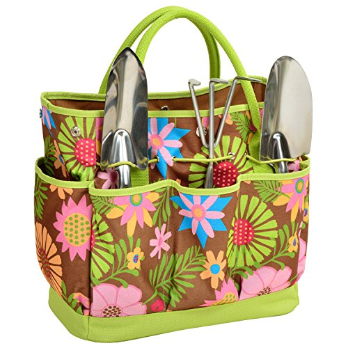 Picnic at Ascot Garden Tote and Tools Set Tool Tote Set
