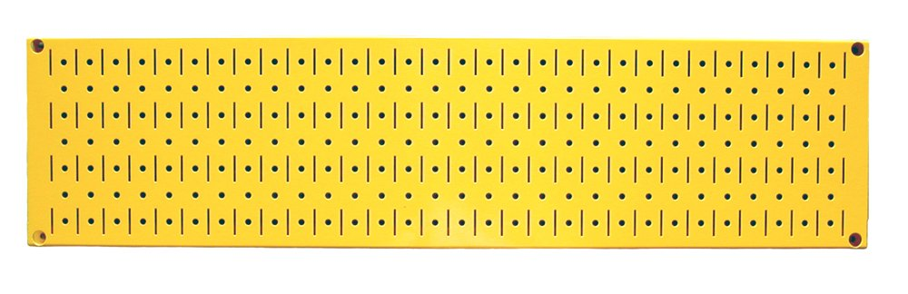 Wall Control 30-P-0832 Y Narrow 8'' x 32'' Yellow Metal Pegboard Runner Tool Board