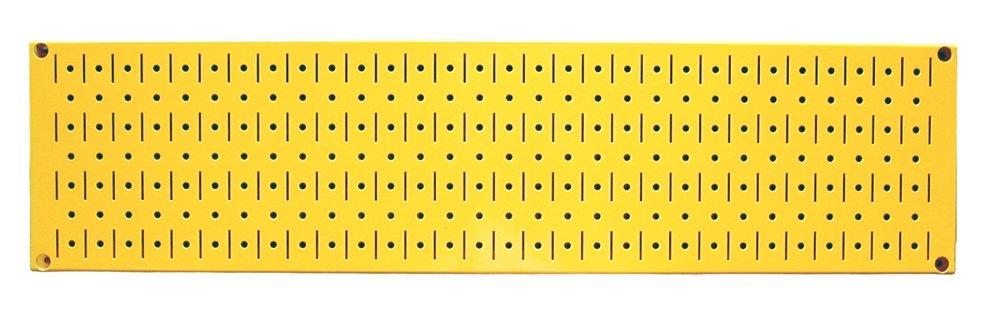 Wall Control 30-P-0832 Y Narrow 8'' x 32'' Yellow Metal Pegboard Runner Tool Board by Wall Control (Image #1)