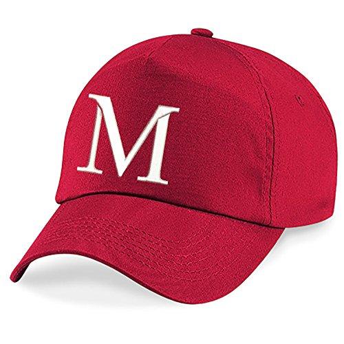 A Niños Escuela Niños Rojo M Gorra 4sold Bordado Alphabet Z Hat w01ISx