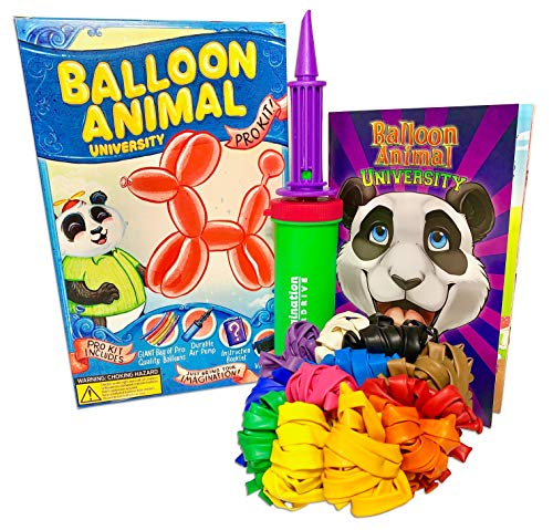 - Balloon Animal University PRO Kit 101 Balloons, Book & Video Training, Qualatex Balloons, NEW Double Action Air Pump. Learn how to Make Balloon Animals Holiday Gift Made In USA!
