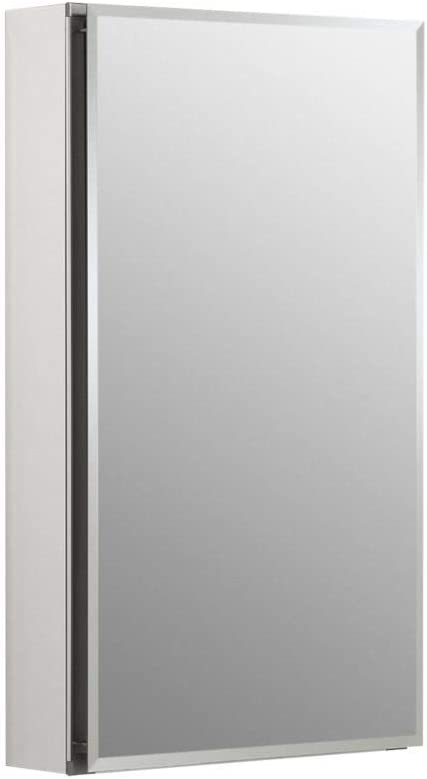 Kohler K-Cb-Clc1526Fs Frameless 15 Inch X 26 Inch Aluminum Bathroom Medicine Cabinet Recess Or Surface Mount