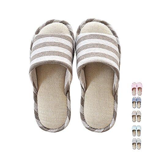 Non Cotton Straw Unisex Slippers Linen Shoes Mens Khaki Open Flax Slip Casual Home Toe Women Soft Sole MAGILONA Weaving 5 Shoes XfZxAq1nZ