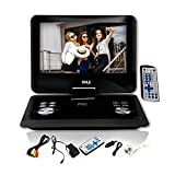 "Pyle Portable DVD CD Player - 14"" High Resolution TFT Swivel Angle Foldable Display Screen Built-in Rechargeable Battery USB/SD Card Readers 32GB Memory & Multimedia Support w/ Remote Control - PDH14"