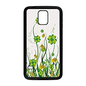 James-Bagg Phone case Lucky clover pattern For Samsung Galaxy S5 FHYY422603
