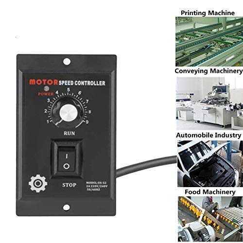 400W AC 220V Motor Speed Controller,Motor Speed Pinpoint Regulator Controller Forward & Backward for Packaging, Printing, Food, Electronics, Instrumentation,Clothing Industry Production Line