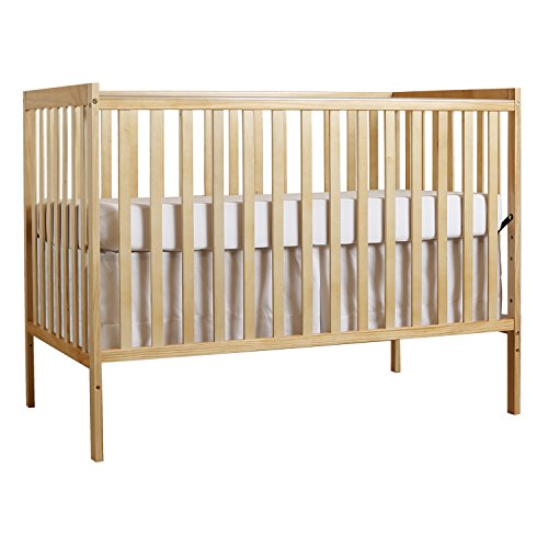 Crib Convertible Wood (Dream On Me Synergy 5-in-1 Convertible, Crib, Natural)