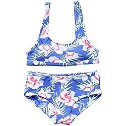 MOOSKINI Women's Two Piece Floral Print Bikini Set Padded Bathing Suit Swimsuit