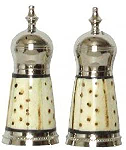 Salt & Pepper Shakers w/ Spotted Bone Sides - Spotted Bone