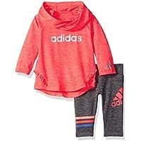 adidas Baby Girls Hoodie and Legging Set