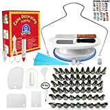 Cake Decorating Supplies - (100 PCS SPECIAL CAKE DECORATING KIT) With 55 PCS Numbered Icing Tips, Cake Rotating Turntable and More Accessories! Create AMAZING Cakes With This Complete Cake Set!