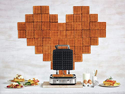 Breville the Smart Waffle 4-Slice No Mess Electric Waffle Maker w/Browning Control - BWM604BSSUSC by Breville (Image #4)