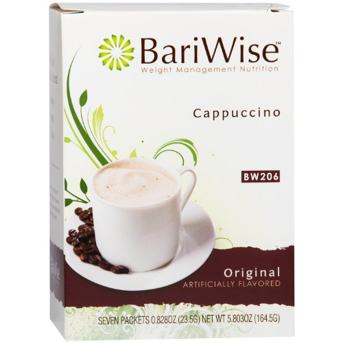 BariWise High Protein Powder Hot Drink / Instant Low-Carb Cappuccino Mix (15g Protein) – Original (7 Servings/Box) - Low Calorie, Low Carb, Low Fat, Aspartame - Cappuccino Drink