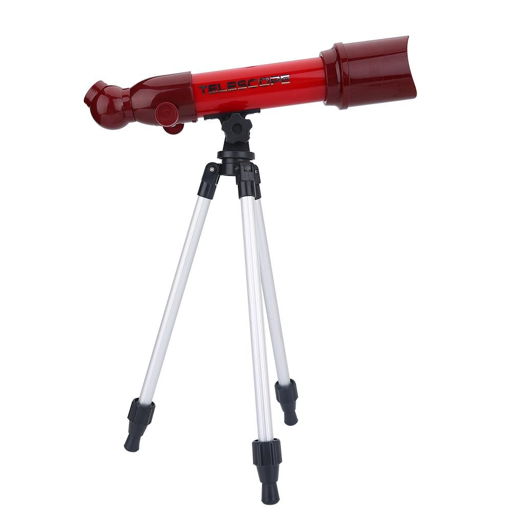 Telescopio Astronomico, Kids Educational Astronomy Starter Scope Stargazing Scientific Toys(Rosso) VGEBY