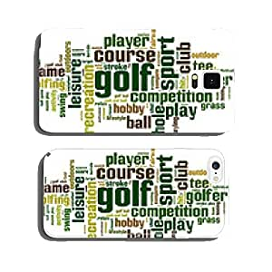 Golf word cloud concept. Vector illustration cell phone cover case iPhone6 Plus