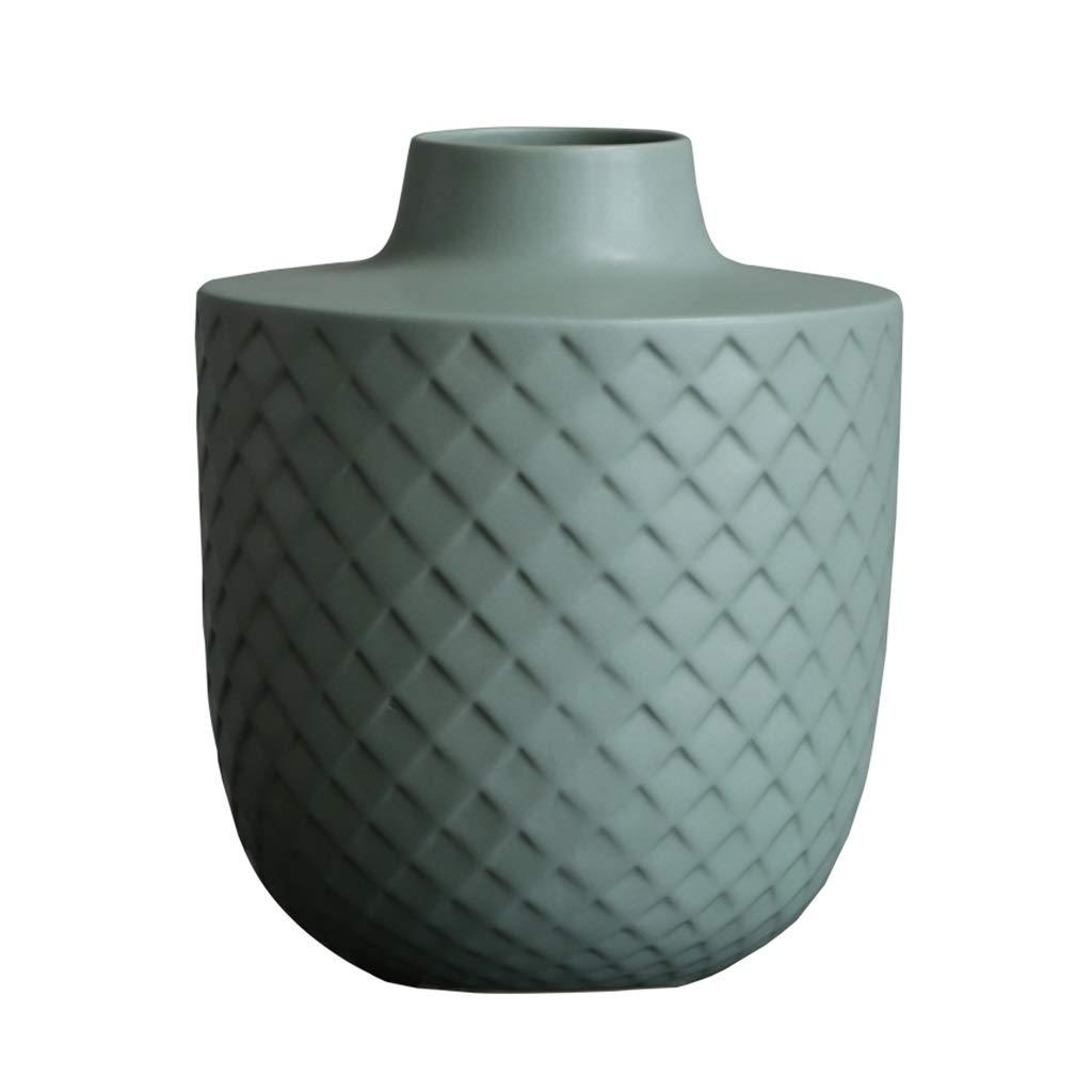 フラワーベース花器 花瓶グリーンセラミックボトルモデルルームのリビングルームの工芸品クリエイティブホームフラワーアレンジメントの装飾寝室用リビングルームの使用手作り (Color : Green, Size : 27*10.5*32cm) B07S9YXL5Q Green 27*10.5*32cm