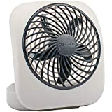 "O2COOL 5"" Portable Fan Battery Powered, 1 Unit, Grey"