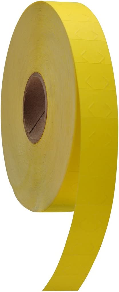 10 Rolls with 1 Free Ink Roller. Yellow Pricing Labels to fit Monarch 1130 Pricers