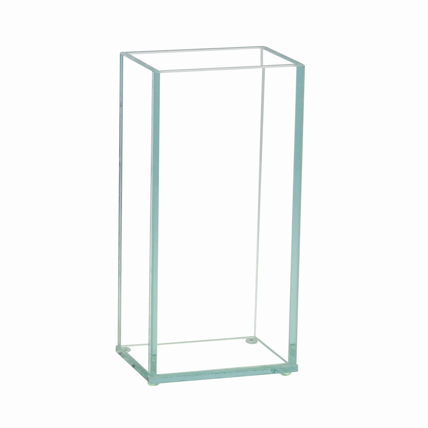 Royal Imports Flower Glass Vase Decorative Centerpiece for Home or Wedding Flat Rectangle Plate Glass, 4'' W x 8'' H, Clear