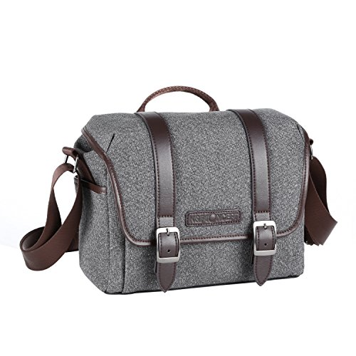 K&F Concept DSLR Camera Case for Canon Sony Nikon Olympus Cameras and Lens Casual Shoulder Bag Size S Gray by K&F Concept