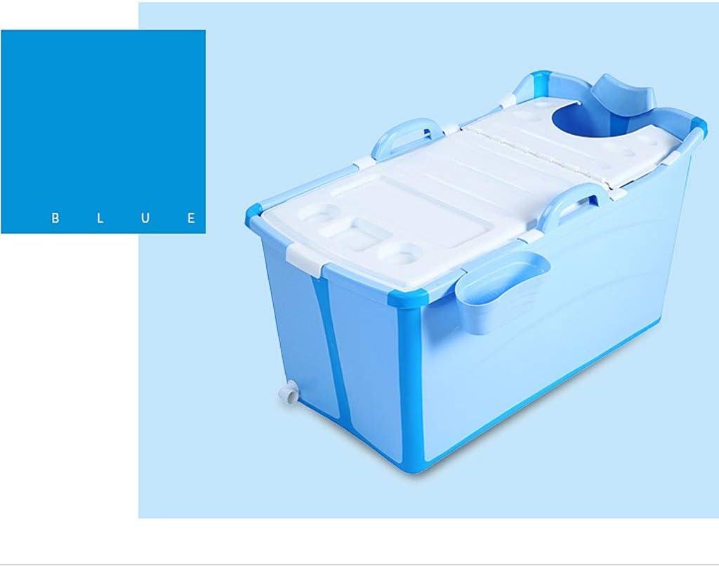 Color : Blue GLY Ba/ñera Adulto Portatil Ba/ñera Plegable Ba/ñera Ba/ñera Plegable Adulto Ba/ñera Plegable Beb/é SPA For 2 Beb/és con Cubierta 50x91x44cm