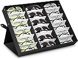 amzdeal Sunglasses Display Case 18 Slot Sunglass