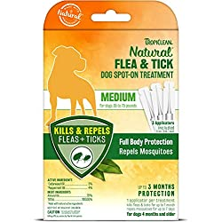 TropiClean Flea and Tick Spot On Treatment for Medium Dogs
