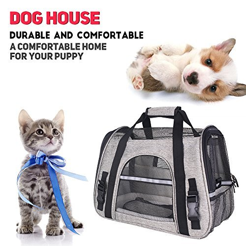 CFY Pet Travel Carriers Bag Soft-Sided Pet Portable Bag Airline...