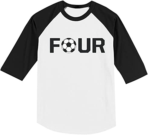 4 Year old Fourth Birthday Gift  Soccer Toddler Kids T-Shirt Four year old