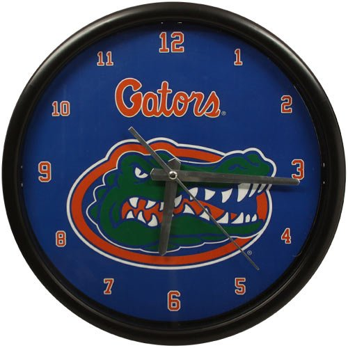 NCAA University of Florida Official Black Rim Basic Clock, Multicolor, One Size by The Memory Company