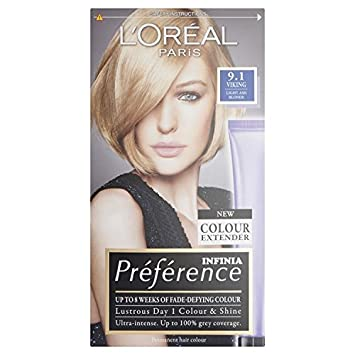 Lu0027Oreal Preference Infinia 9.1 Viking Light Ash Blonde Hair Dye Idea