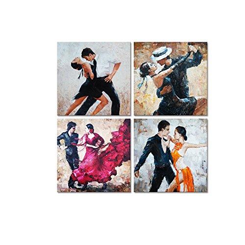 Dancing Art Poster - Framed Wall Art Tango Decorative Art Poster Print Romance Passion Dancing Fine Art for Bedroom Bar Decorations