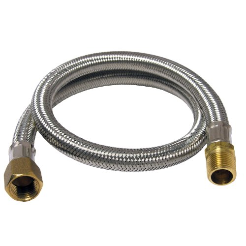 LASCO 16-9031 Stainless Steel Propane BBQ Hose with 3/8-Inch Male Iron Pipe X 3/8-Inch Female Flare Swivel, 24-Inch