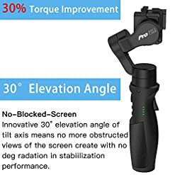 Hohem iSteady Pro 3 Gimbal 3-Axis Stabilizer Compatibility for Action Camera Hero 7/6/5/4/3+/3,Sony RX0,Yi Cam 4K,AEE… Fdeals