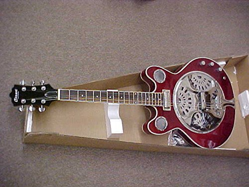NEW 2017 ELECTRIC ACOUSTIC RESONATOR GUITAR -CANDY RED LACQUER FINISH