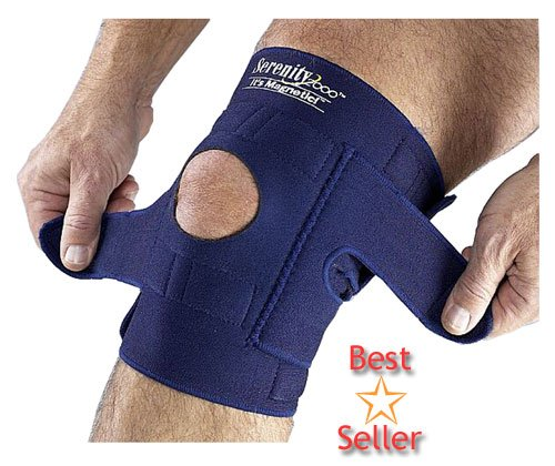 "Serenity 2000 | Magnetic Therapy Knee Brace for Support and Pain Relief – Small, Fits Knees Up To 18"", Contains 34 Magnets"