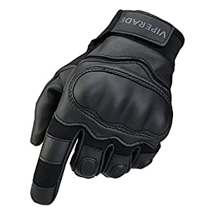 Viperade Mens Tactical Gloves Military Rubber Hard Knuckle Outdoor Glove | Heavy Duty Glove | Airsoft Glove | Best for Cycling Hiking Camping Powersports (Black,M)