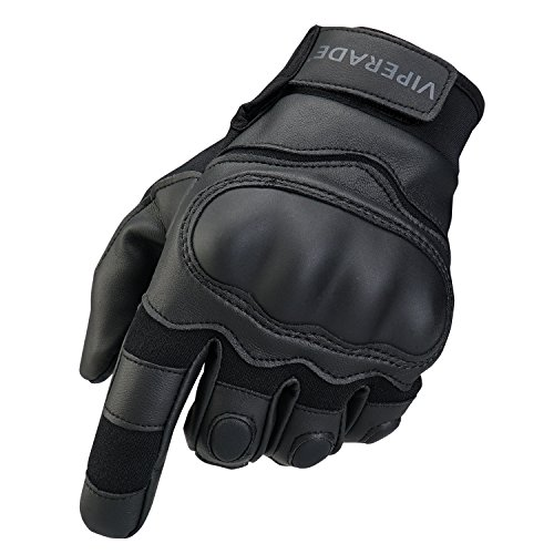 (Viperade Mens Tactical Gloves Military Rubber Hard Knuckle Outdoor Glove | Heavy Duty Glove | Airsoft Glove | Best for Cycling Hiking Camping Powersports (Black,M))
