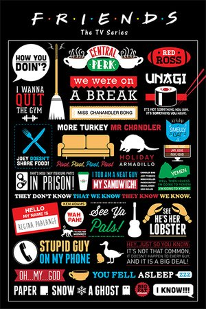 television-friends-infographic-phrases-quotes-maxi-poster-61x915cm