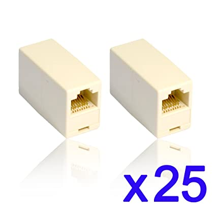 1 pack rhinocables/® Cat 5e Network Patch Ethernet RJ45 Coupler Cable Joiner Beige