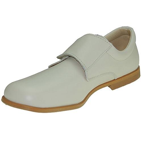 CALZADOS ROMERO 1810 Zapato de Comunión con Velcro para Niño: Amazon.es: Zapatos y complementos