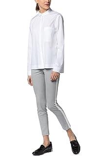 Eterna - Slim Fit - Damen Langarm Bluse in Weiß, Bügelfrei (5003 DY01) b35c0661b2