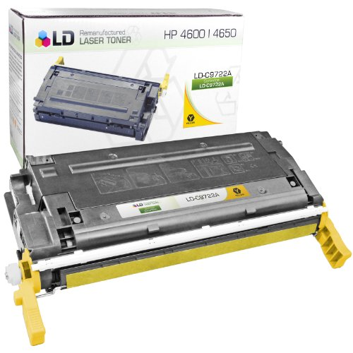 C9722a Replacement (LD Remanufactured Replacement Laser Toner Cartridge for Hewlett Packard C9722A (HP 641A) Yellow)