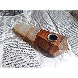 Pipa de piedra Onix natural exotico con rejilla diferentes tonos