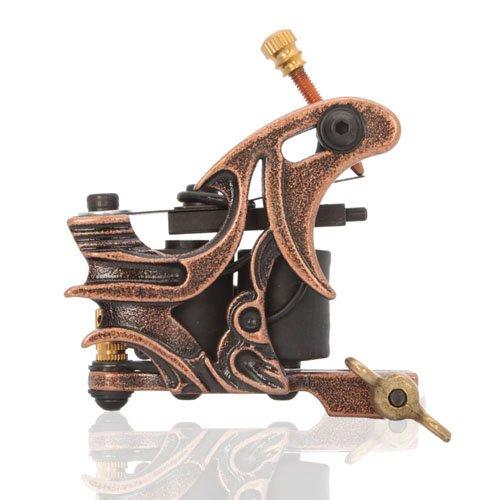 New Cast 10 Laps Coils Tattoo Machine Liner Shader Gun Hb-wgg003 Brown