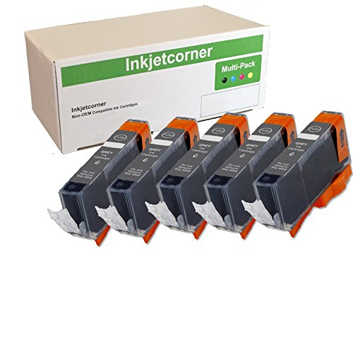 Inkjetcorner Compatible Ink Cartridges Replacement for CLI-226 for use with MG6120 MG6220 MG8120 MG8220 (Gray, 5-Pack) ()
