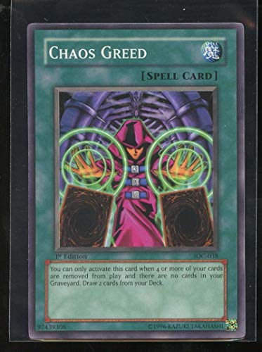 Chaos Greed 1st Edition IOC-038 Yugioh Invasion of Chaos - 038 Chaos