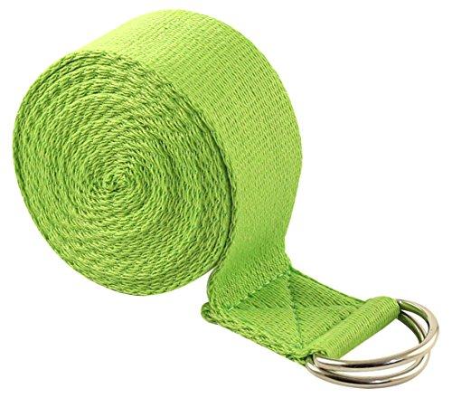 Fit Spirit 10ft Fitness Exercise Yoga Strap - Green